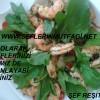 Enginar kalpli karides salatası