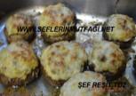 Patlıcanlı mantar dolması