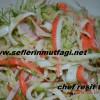 Istakoz surimi salatası
