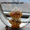 Yengeç sürimi salatalı mini tart