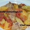 Fırın da patatesli kuzu eti