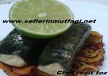 Asma yaprağın da levrek balığı tarifi