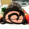 Çilekli çikolatalı rulo pasta