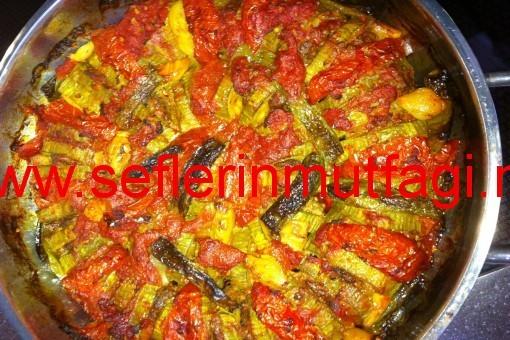 Etli kabak dizme tarifi-Kabak yemekleri