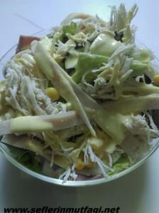 jambonlu tavuk salata